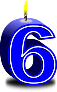 נר ליום הולדת 6