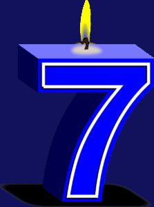נר ליום הולדת 7